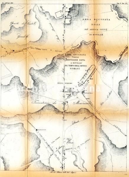 Tavola Settima della Via Appia, in Tavole dei Monumenti dell'Instituto di Corrispondenza Archeologica, vol. V tav. LX, 1853