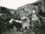 La Basilica di Massenzio durante il periodo degli sventramenti fascisti